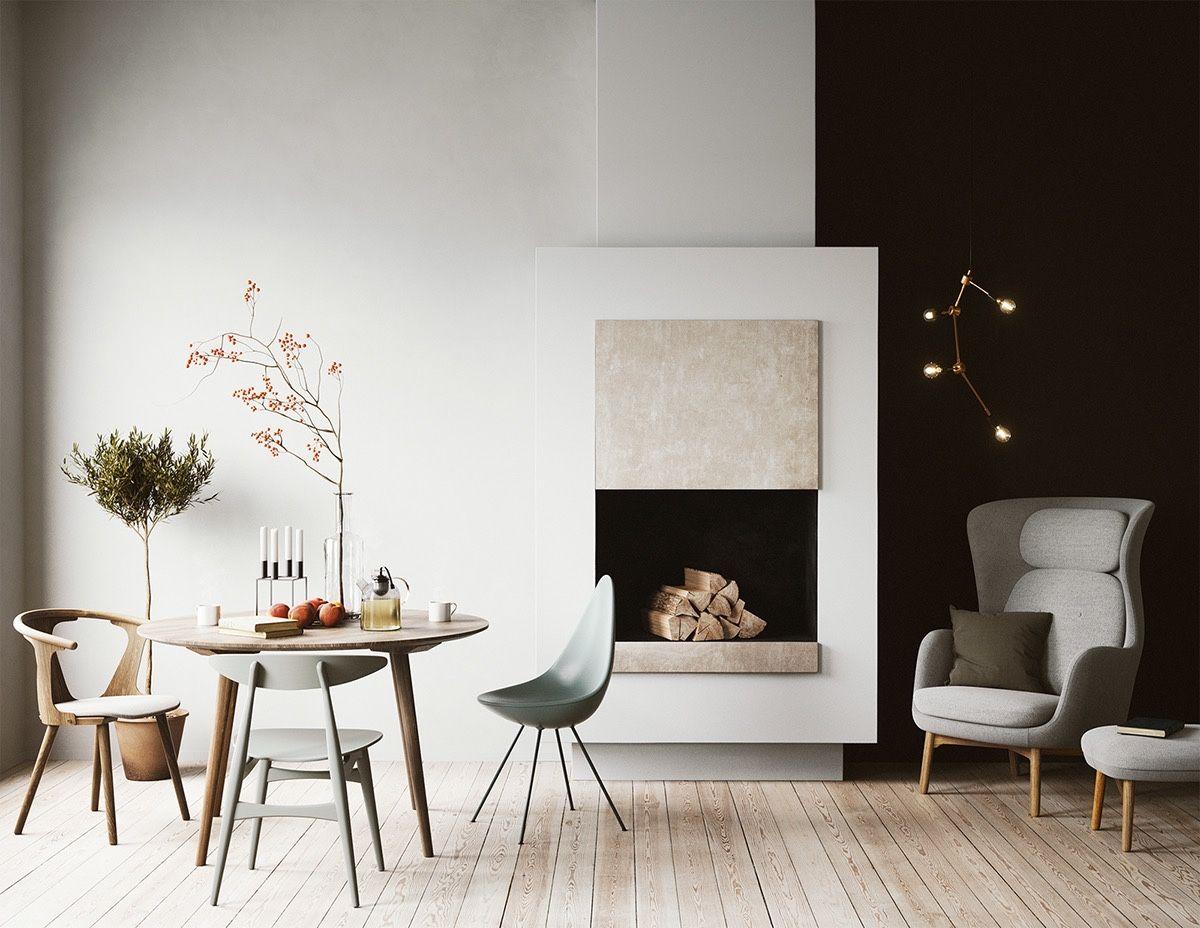 Küchenideen rustikal modern  fantastische skandinavische esszimmer designideen  esszimmer