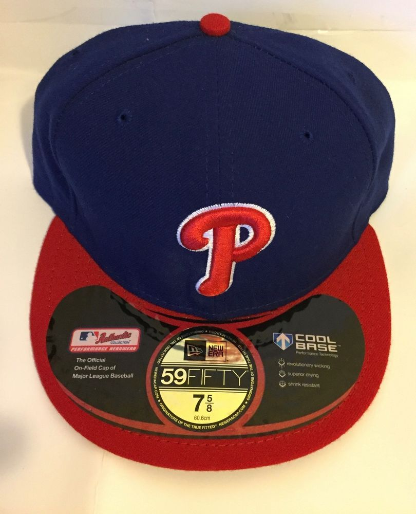 NEW ERA 59FIFTY PHILADELPHIA PHILLIES BLU RED HAT ON FIELD MLB FITTED HAT-7  5 8  fashion  clothing  shoes  accessories  mensaccessories  hats (ebay  link) 2e76f26950d