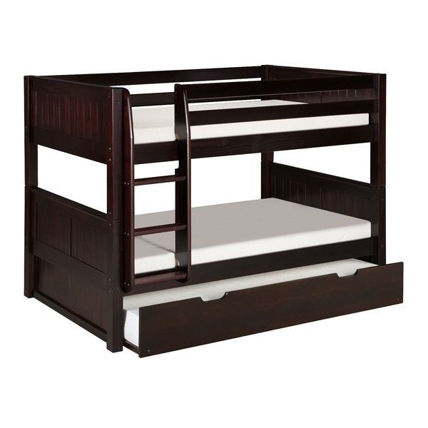 Best Solid Wood Modern Twin Over Twin Bunk Bed With Trundle In 400 x 300