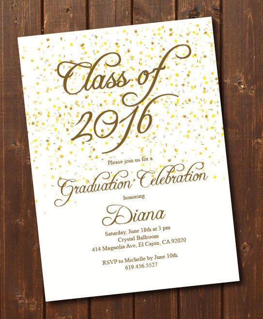 Class Of  High SchoolCollege Graduation Invitation Card