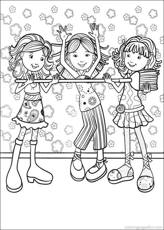 Groovy Girls Coloring Pages 59 | printables | Pinterest | Girls ...