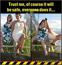 Funny Safety Meme Trust Me Everyone Does It Health Humor Travel Photographer Health And Safety Poster