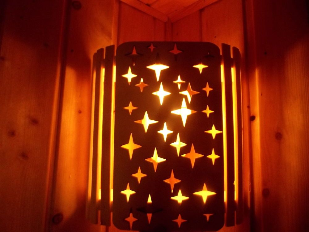 Lampenschirm Holzblendschirm Saunalampe Blendschirm Saunalicht  Neu vlasve