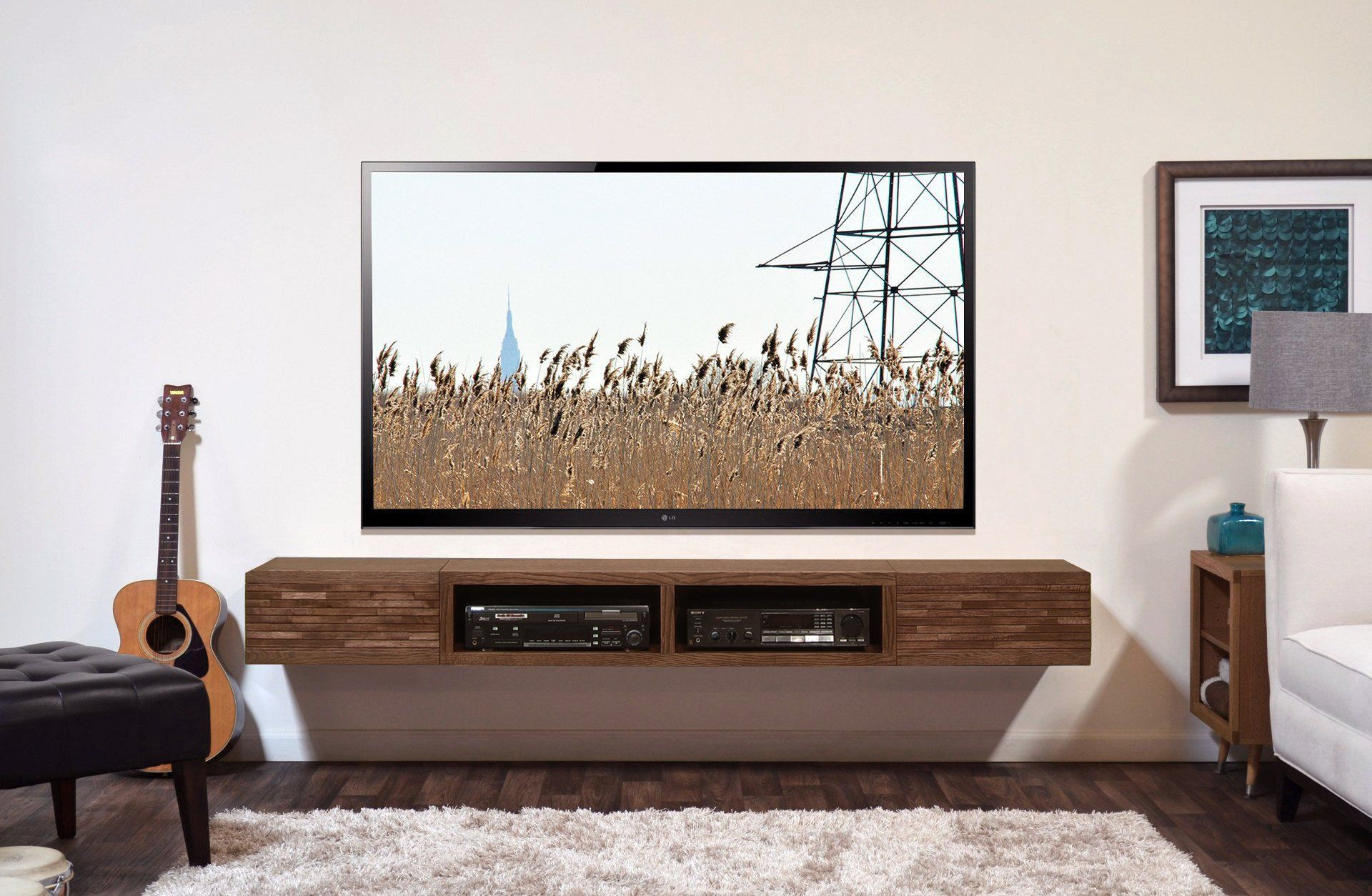 Floating Tv Stand Mid Century Modern Wall Mount Entertainment Center Save 200 With This Floating Tv Stand Modern Entertainment Center Diy Entertainment Center