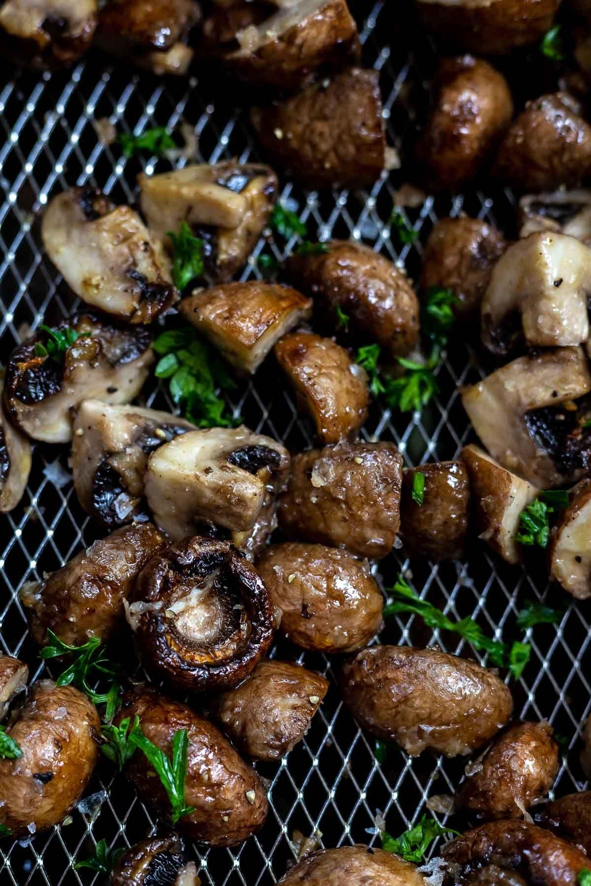 Air Fryer Garlic Mushrooms Recipe Mushroom recipes