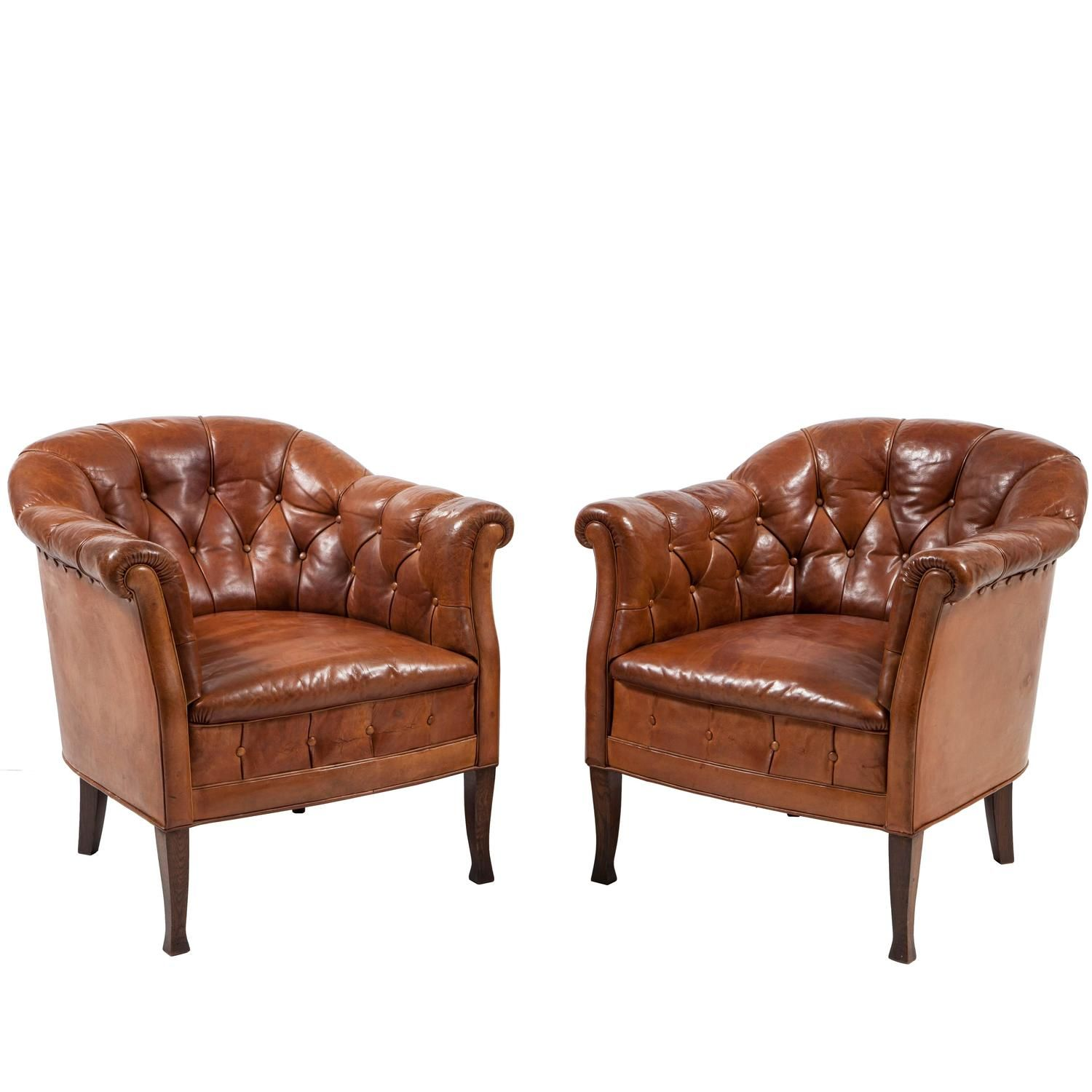 Small Club Chair Pair Of Swedish Leather Club Chairs Furniture Leather Club