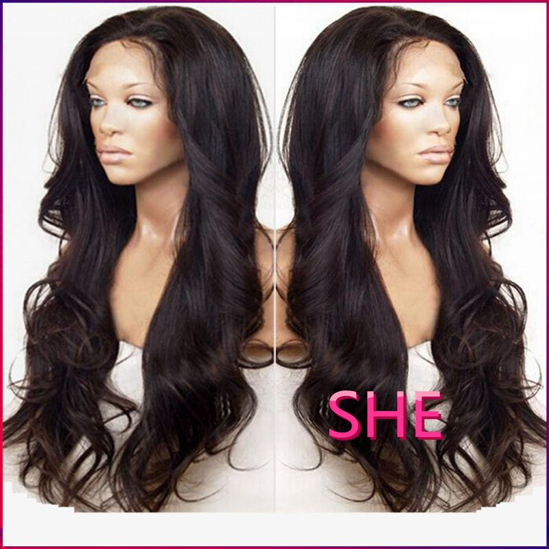 Find More Synthetic Wigs Information about African American Women long black  wig Cheap Synthetic Lace Front Wig free shipping cheap wigs 1889ade6a4da