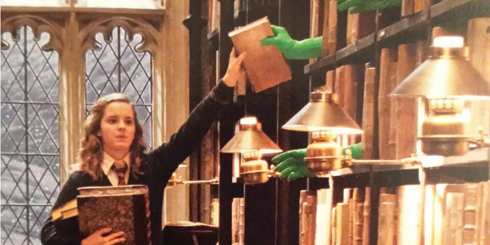 http://www.thisisinsider.com/how-the-harry-potter-quidditch-scenes-were-shot-2016-7?utm_content=buffer81fb2&utm_medium=social&utm_source=facebook.com&utm_campaign=buffer To create the Quidditch scenes in the 'Harry Potter' films, actors would jump up and down on a trampoline in front of a green screen.