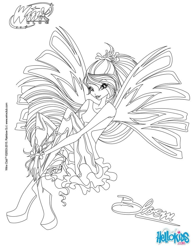 Bloom Transformation Sirenix Coloring Page Drawings