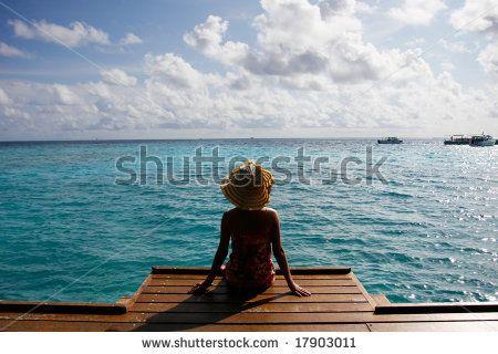 Girl Watching Sea