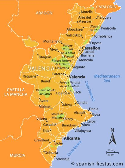 Mapa Costa De Valencia.Map Of The Region Valencia Spain Valencia Spain Valencia Murcia Spain