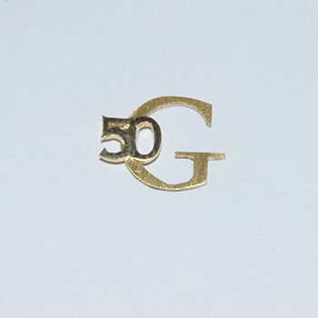 A golden pin for working 50 years at Geerts Advies Groep