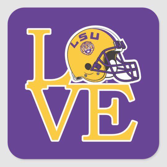 LSU Love Square Sticker in 2020 Lsu tigers