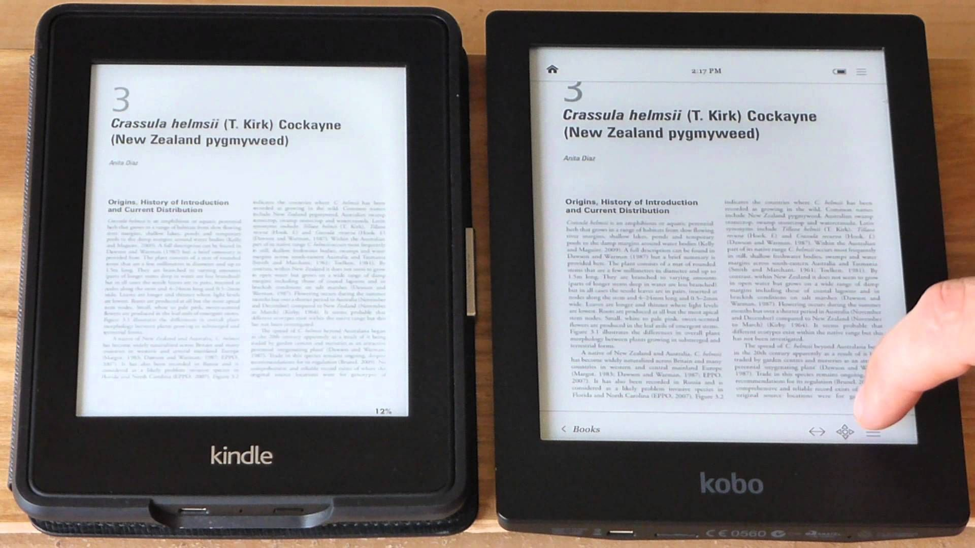 Kindle Paperwhite Vs Kobo Aura Hd In Pdf Viewing Kindle Paperwhite Kindle Kobo
