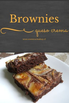 Brownies queso crema