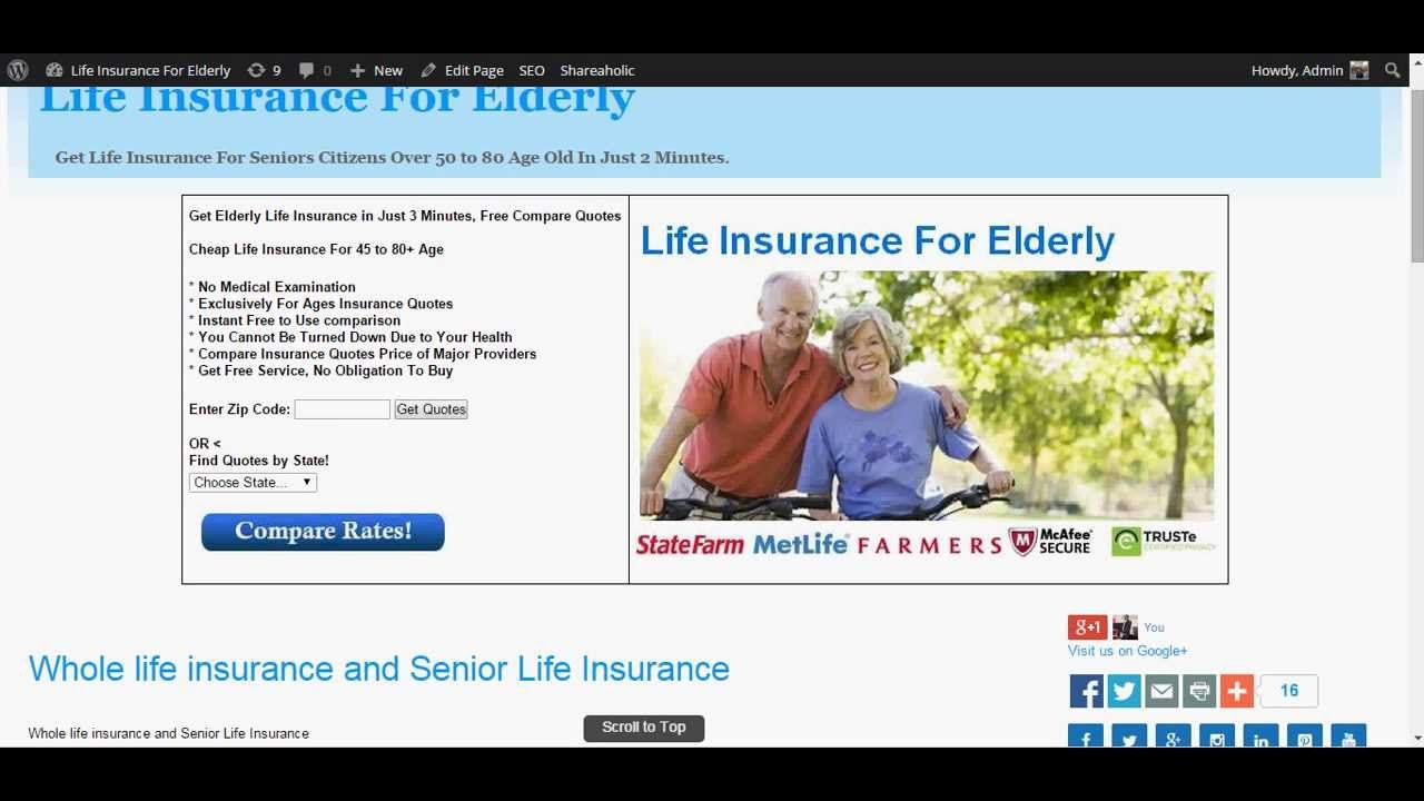 Affordable Life Insurance Quotes Whole Life Insurance For Seniors  Whole Life Insurance