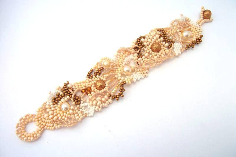 Seed bead Armband Perlen Armband Freeform Peyote von ibics auf Etsy