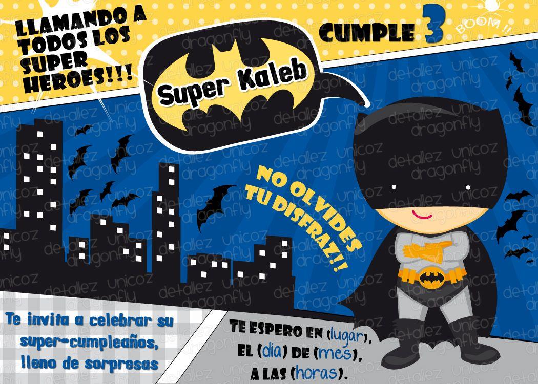 Invitaciones De Cumpleaños De Batman En Hd Gratis Para Bajar