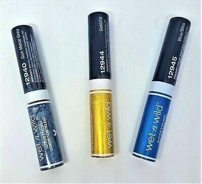 Details about New Wet N Wild Glitter Eyeliner Gold, Blue or Gun Metal Grey Fantasy Makers #glittereyeliner
