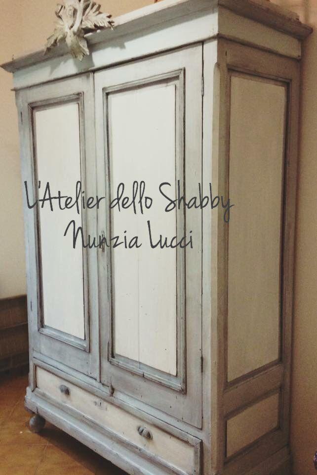 Recupero di un vecchio armadio in stile shabby chic - Mobili in stile shabby ...