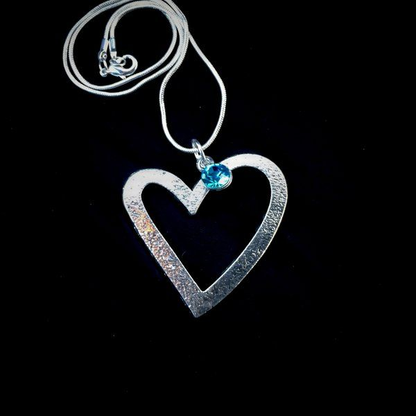 Guardian Angel Sympathy Layered Heart Mourning Loss  Birthstone Necklace