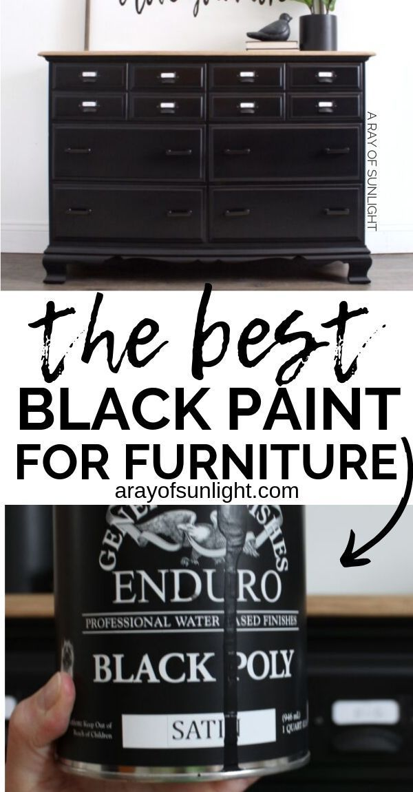 How To Easily Paint Black Furniture One Of The Hardest Colors To Get Perfect Black Painted Furniture Black Furniture Paint Furniture