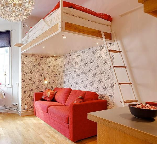 25 Hanging Bed Designs Floating In Creative Bedrooms Interior Design Apartment Small Small Apartment Interior Creative Bedroom