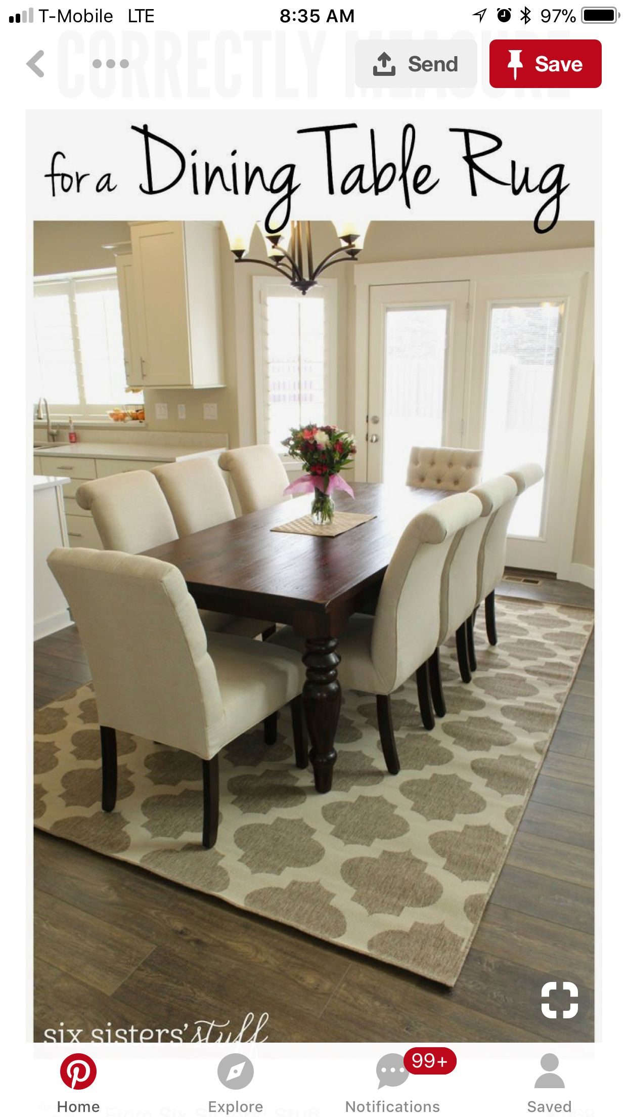 Pin By Samantha Etridge On Dining Room Dining Table Rug Dining