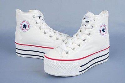 converse all star altas blancas plataforma
