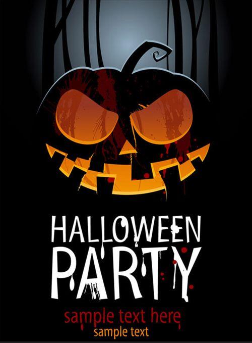Halloween Party Template #halloweenwallpapers - halloween template