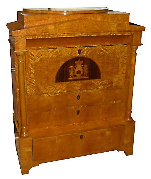 Rare Biedermeier style antique secretary desk. Biedermeier furniture was  made in the first half of - Rare Biedermeier Style Antique Secretary Desk. Biedermeier Furniture