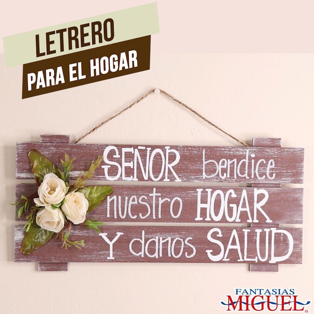 LETRERO PARA EL HOGAR