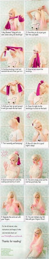 Overnight Curls Hacks for Curly Hairstyles No Heat  Hair and makeup  #Curls #dü... #hairmakeup