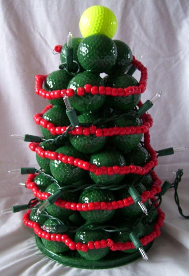 Golf Ball Christmas Tree Golf Ball Christmas Crafts Crafts