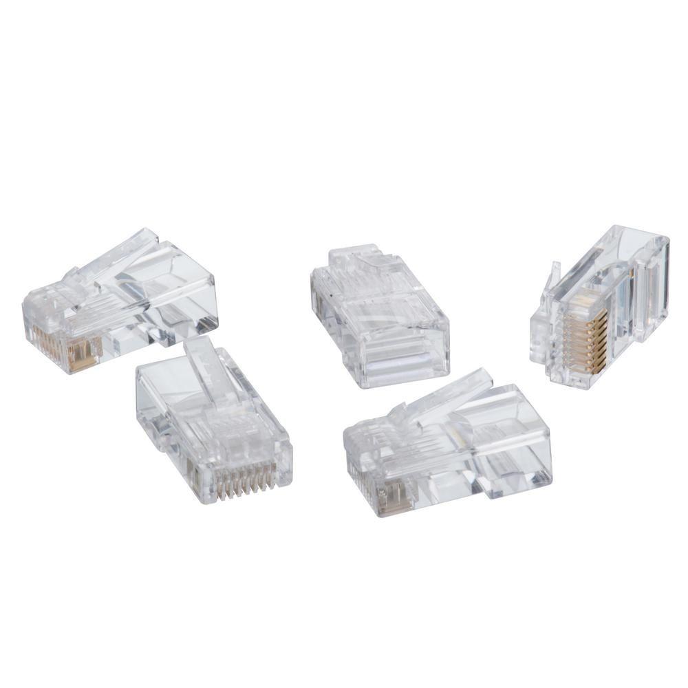 Black Box Cat6 Ez-rj45 Modular Plugs 100-pack 100 Pack 1 X Rj-45 Male