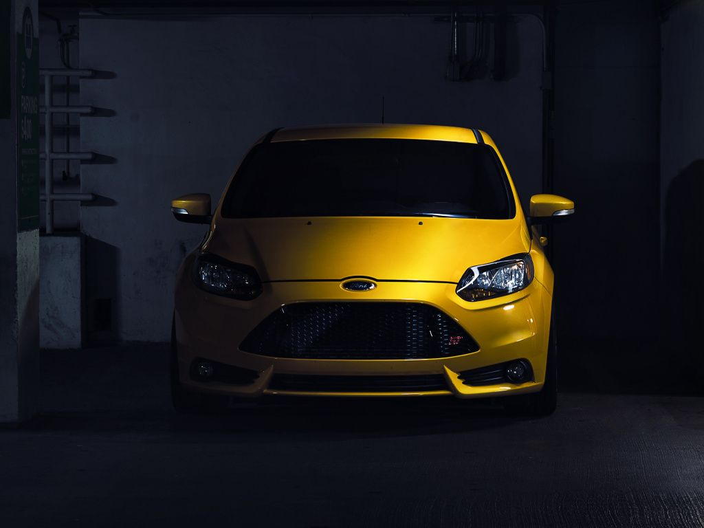 Ford Focus Rs Yellow Car Front Wallpaper Hd Image