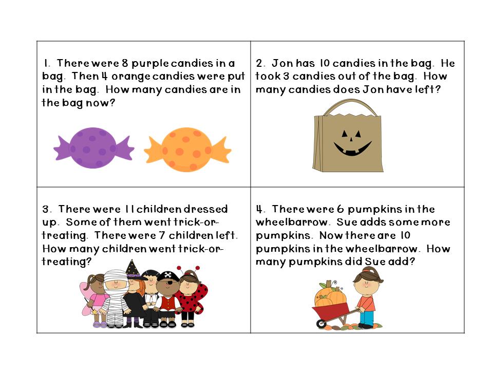 Halloween Math Word Problems - Kidz Activities