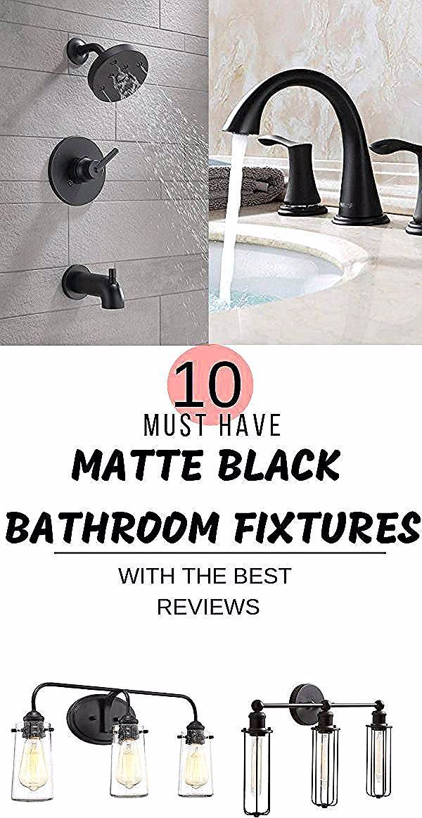 Photo of Must have matte black bathroom fixtures with the best reviews. Matte Black Home …