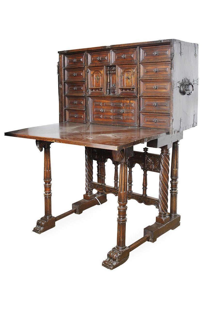 Antique Desk, Desks, 18th Century, Graham, Melbourne, Spanish, Au, - Pin By Graham Geddes Antiques On Selection Of Desks, Varguenos