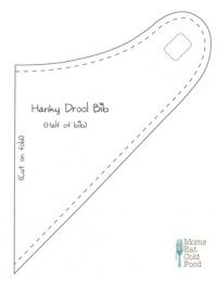 Bandana Bib Template Easy Craft Ideas