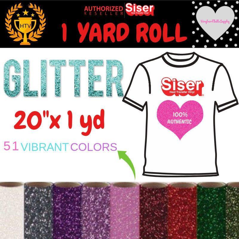 20 X 1 Yard Roll Siser Glitter Heat Transfer Vinyl Etsy Glitter Heat Transfer Vinyl Glitter Vinyl Htv Vinyl