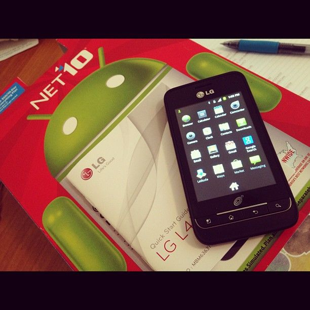 Net10 Lg Optimus Net No Contract Touch Screen Prepaid Cell Phone