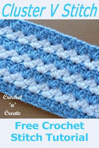 Crochet Cluster V-Stitch Tutorial - Free Crochet I