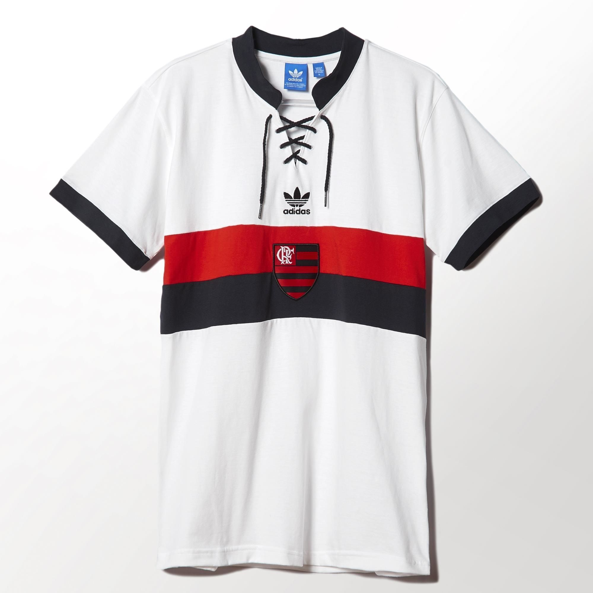 Adidas Flamengo Away Retro Shirt - White   Red   Black  21716f7765929