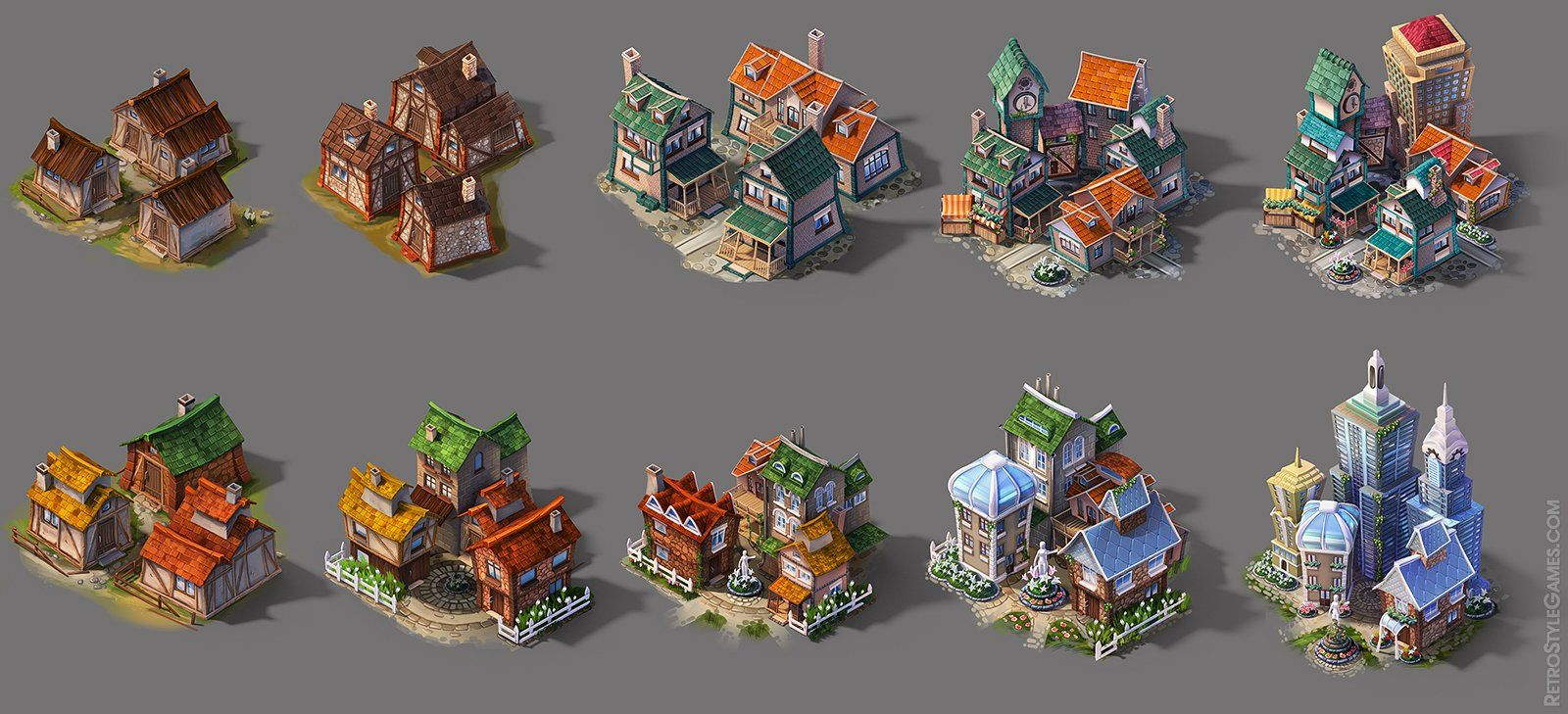 Isometric Concept Art Game art behance and rpg | Environment
