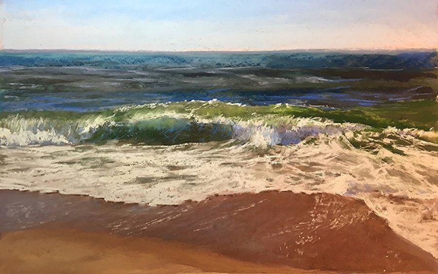 """Jeanne Rosier Smith ~ """"Rinse and Repeat"""" ~ Pastel 14 x 22"""