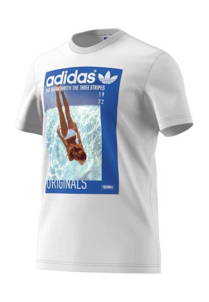Adidas T Shirt Men Girl Tee Bq3038 Weiss Moda Adidas Disenos De Unas