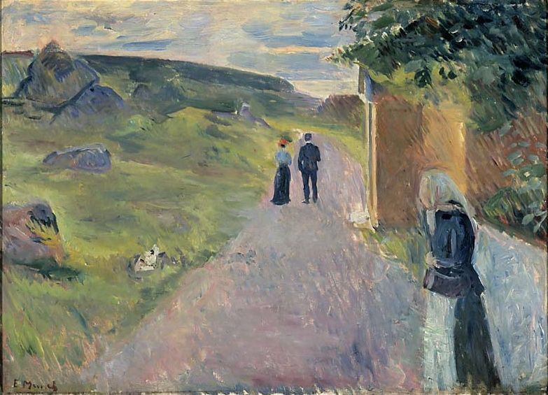The Athenaeum - Eroticism on a Summer (Edvard Munch - )