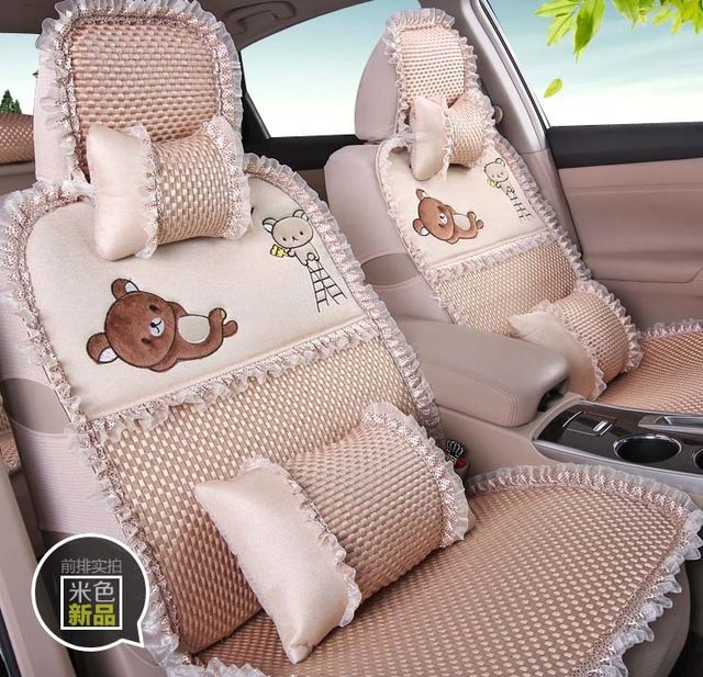 Two Merino Wool Pad Mat Auto Chair Seat Covers Breathable Seat Pad cover Cushion