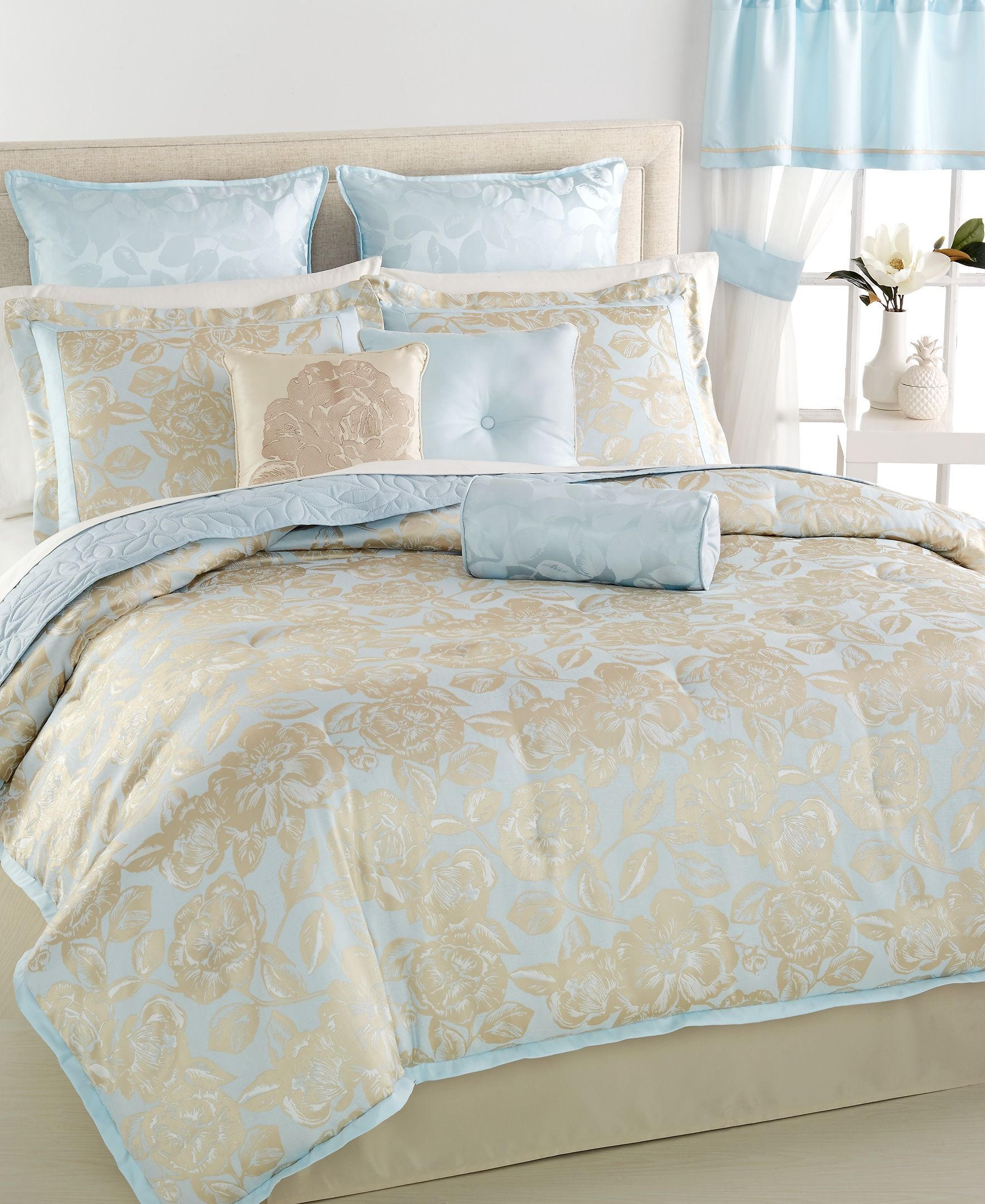 Martha Stewart Collection Madeleine Rose 22 Pc Comforter Set